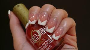 i relish nail polish chevron french with beverly hills plum