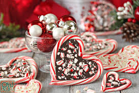 chocolate heart candy peppermint bark candy hearts oh nuts