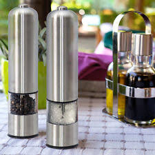 electric salt pepper mill grinder with light electric pepper mill ebay