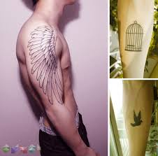 beautiful forearm stencil wing for and
