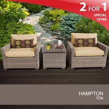 Hampton Patio Furniture Sets - details about 3 piece wicker patio shop hanover outdoor furniture
