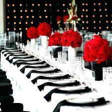 red and white table decorations for a wedding red table decorations vibrant dinner table decorations xecc co