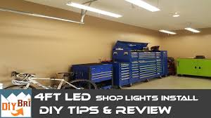 hardwired led shop lights installing led shop light easy how to instructions 4ft led shop