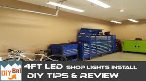 linkable led shop lights installing led shop light easy how to instructions 4ft led shop