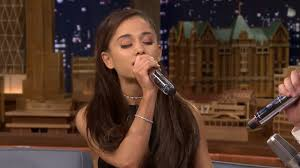 ariana grande u0027s perfect celine dion impression u0026 ew skit youtube