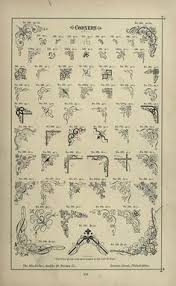 specimens of printing types ornaments border графіка