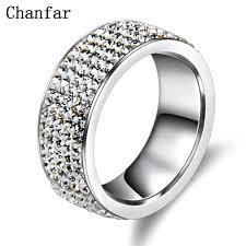 wedding rings steel images 5 rows crystal stainless steel ring women for elegant full finger jpg