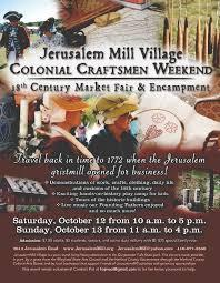 jerusalem mill village 19th annual colonial craftsmen weekend is