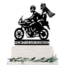 motorcycle wedding cake topper personalized wedding cake topper acrylic black custom motorcycle