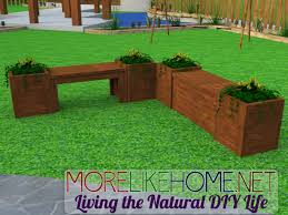 Outdoor Wooden Bench Plans To Build by Diy Bench And Planters Full Material List Cutting List And