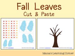 cut u0026 paste fall leaves mamas learning corner