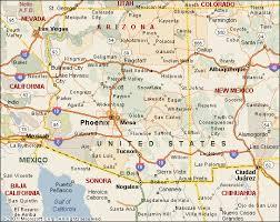az city map map of arizona black