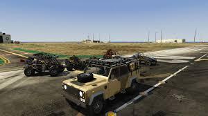 military land rover 110 land rover defender 110 extras template unlocked gta5 mods com