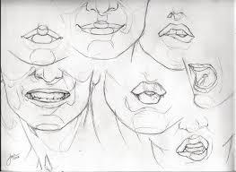 lips sketch studies by jophiels on deviantart