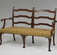 interior traditional chair back settee design come with brown