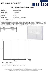 3 Door Mirrored Bathroom Cabinet by Wall Cabinets 900mm 3 Door Mirror Cabinet Luxmw900 From Home Of Ultra