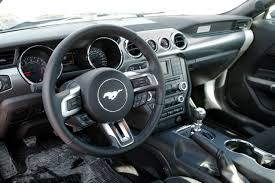 mustang inside 2015 ford mustang ecoboost review autoguide com