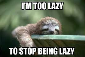 Lazy Meme - sloths anonymous a lazy guide to overcoming laziness