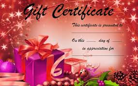 gift certificate template word excel formats