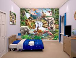 bedroom mural jungle animal adventure bedroom mural walltastic