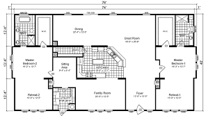 One Bedroom Mobile Home For Sale Mobile Home Floor Plans Triple Wide Triple Wide Mobile Home Floor