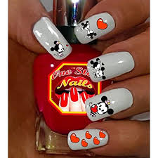 valentine u0027s day disney with mickey and minnie nail art decals