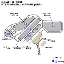 grand rapids mi airport gerald r ford international airport airport maps maps and