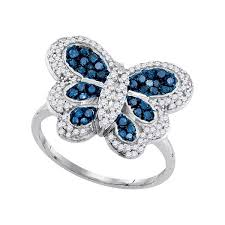 butterfly engagement ring 85679ladies blue butterfly ring