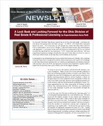 sample real estate newsletter 4 documents in pdf