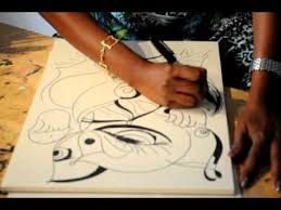 kalawathi abstract ganesha drawing part 2 youtube