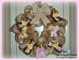 baby shower wreath the scrappin rabbit baby shower wreath and baby gift tag