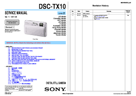 sony dsc tx10 service manual free download