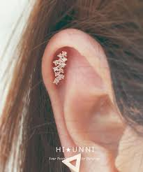 cartilage earrings 16g cz studded flower blossom ear piercing stud barbell cartilage