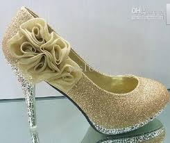 wedding shoes gold gold flower wedding shoes high heel shoes diamond party evening
