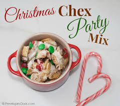 christmas chex party mix penelopes oasis