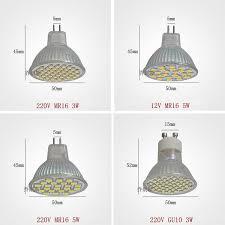 super bright led spotlight bulbs gu10 3w 5w mr 11 mr16 220v led