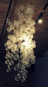 chandelier from clear ornaments would be