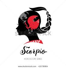 scorpio zodiac sign beautiful silhouette stock vector