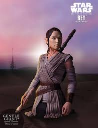gentle giant rey mini bust from star wars the force awakens