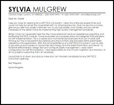 sample oracle functional consultant cover letter sap fico