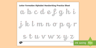 printable alphabet worksheets uk letter formation alphabet handwriting practice sheet lowercase