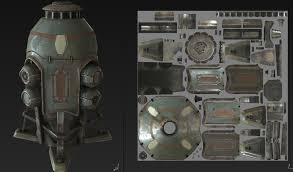 energypod artstation energy pod sketchfab and marmoset viewer test