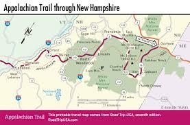 Map Of Usa East Coast by Appalachian Trail Driving Route Road Trip Usa