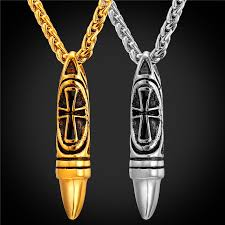 wholesale cross necklace pendants images Bullet necklace charms pendant jewelry wholesale 316l stainless jpg