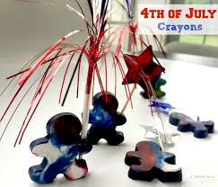 fourth of july crayon mold easy craft for kids a thrifty diva