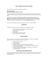 grant report template best photos of narrative report template report narrative