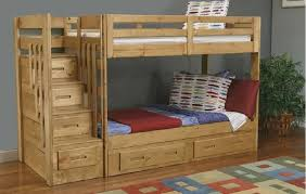 Do It Yourself Bunk Bed Plans Bedroom Cool Rustic Bunk Bed With Stairs And Trundle Bunk Beds