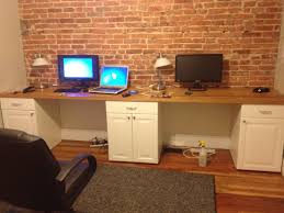 Two Person Home Office Desk Two Person Desk Sweeeet Wall Homey Things Pinterest