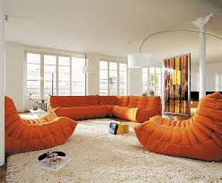 Orange Sofa Living Room Ideas Amazing Orange Sofa For Innovative House Designoursign