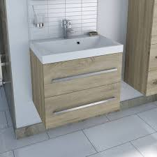 drift sawn oak 2 drawer wall hung unit u0026 inset basin was 519 now